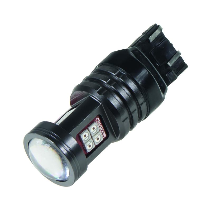 LED T20 (7443) červená, 12-24V, 15LED/2835SMD