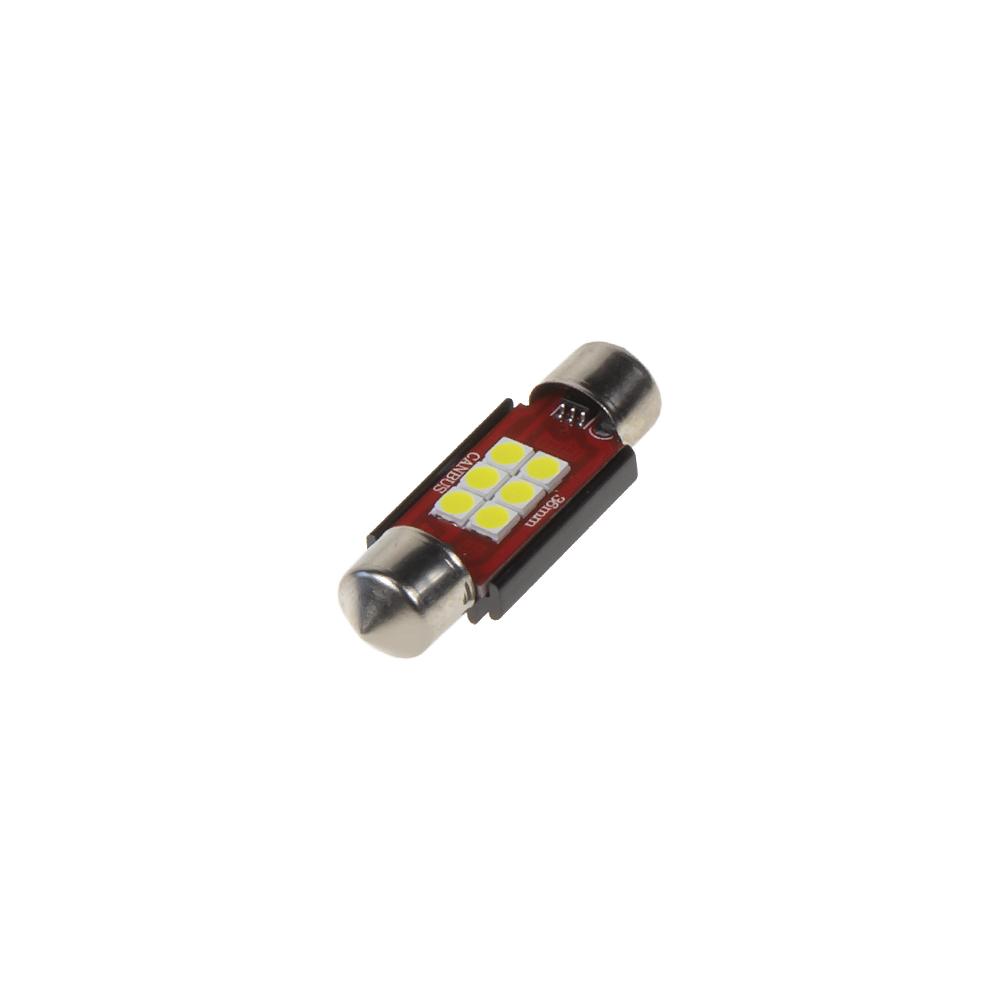 LED sufit (36mm) bílá, 12/24V, 6LED/2835SMD