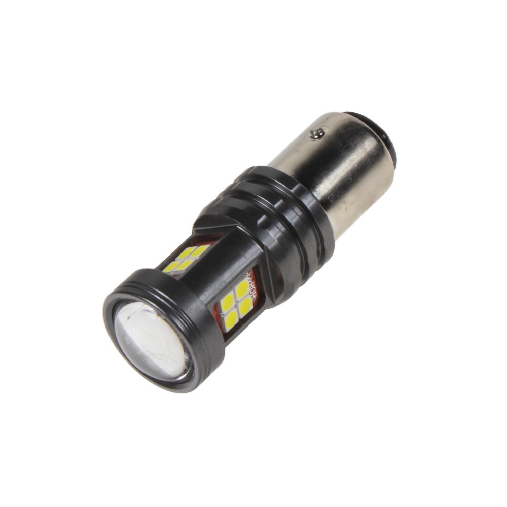 LED BAY15d bílá, dvouvlákno, 12-24V, 15LED/2835SMD
