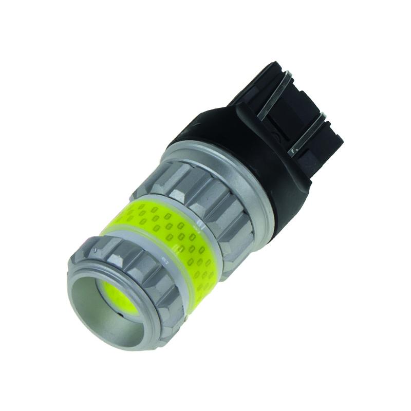 LED T20 (7443) bílá, COB 360⁰, 9-60V, 12W