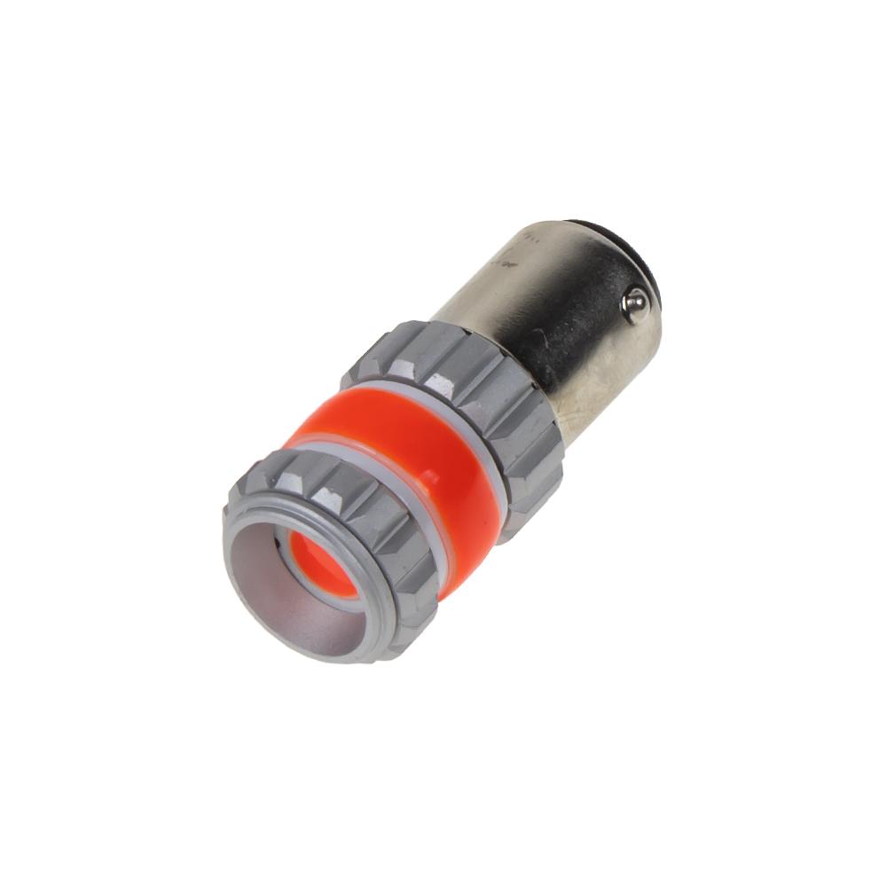LED BAY15d červená, dvouvlákno,COB 360⁰, 9-60V, 12W
