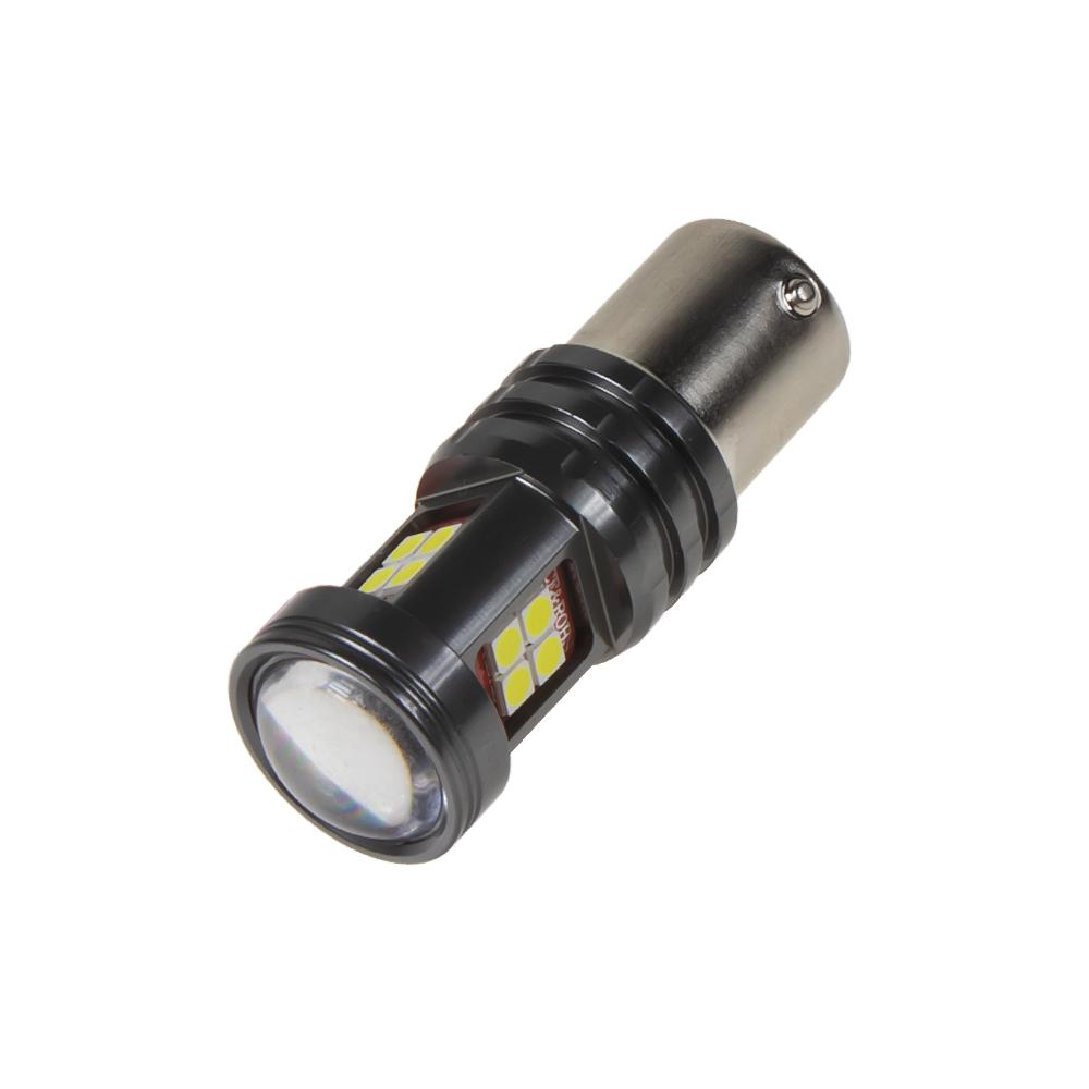 LED BAU15s bílá, 12-24V, 15LED/2835SMD
