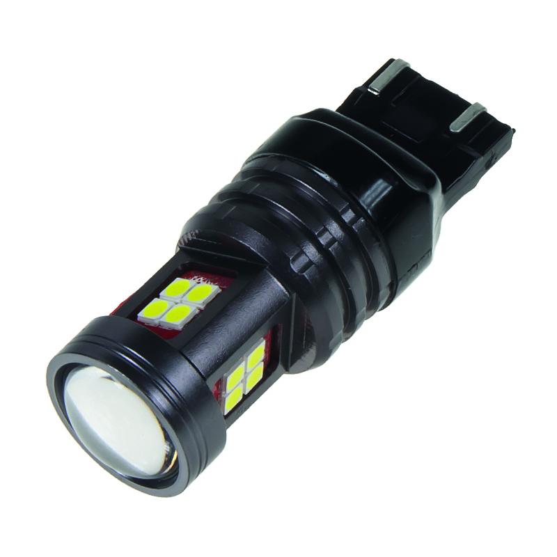LED T20 (7443) bílá, 12-24V, 15LED/2835SMD