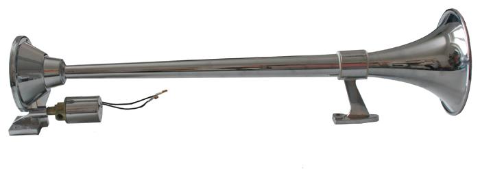 Singl-fanfára 1000mm, chromová, hluboký tón bez kompresoru