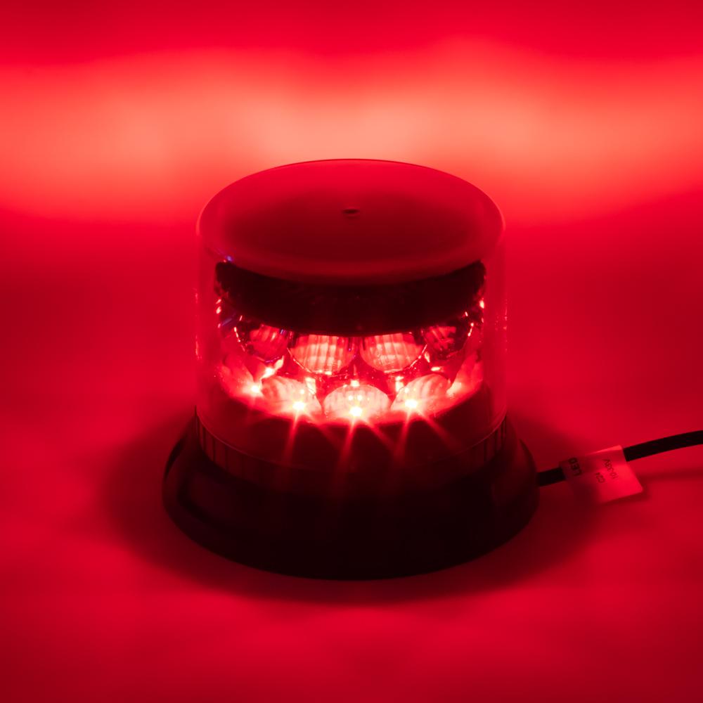 PROFI LED maják 12-24V 24x3W červený čirý 133x86mm, ECE R10
