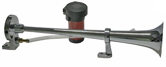 Singl-fanfára 450mm, 12V stálý tón s kompresorem