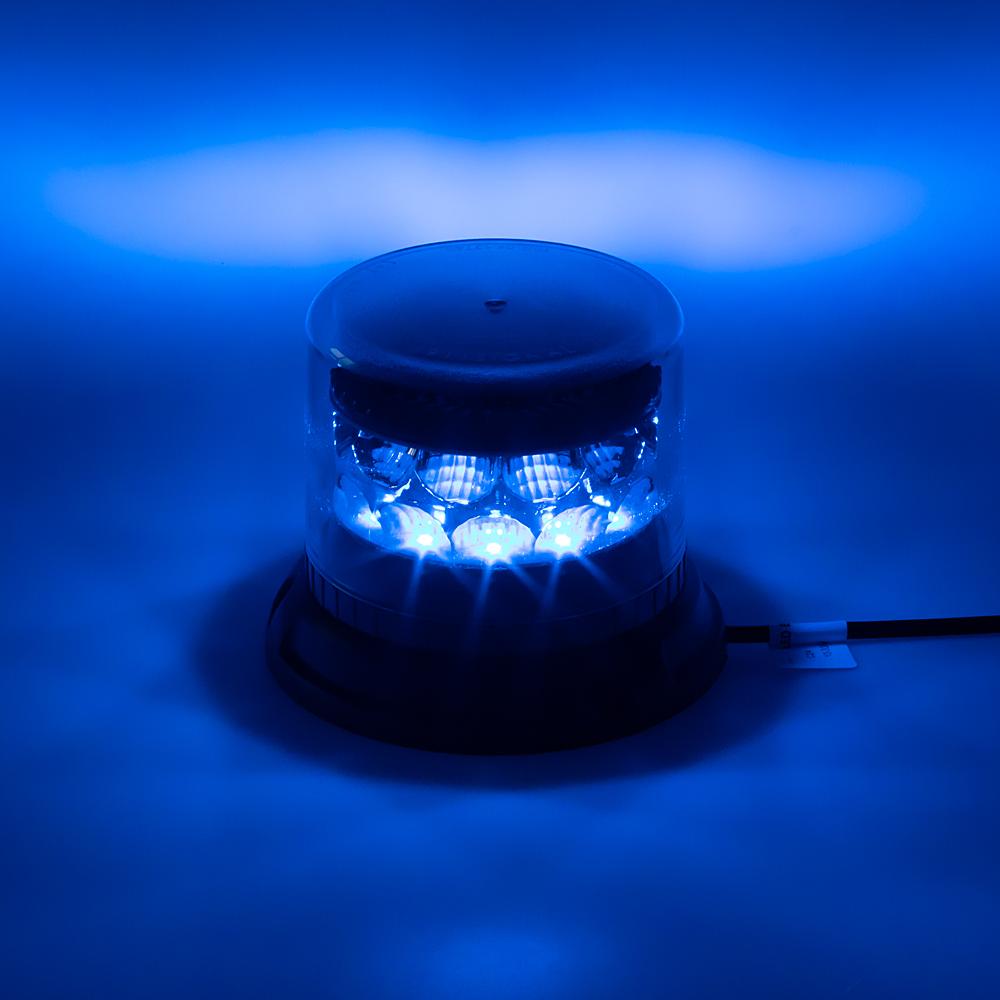 PROFI LED maják 12-24V 24x3W modrý čirý 133x86mm, ECE R65