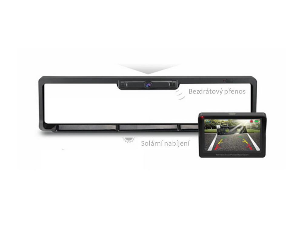 """SET bezdrátový digitální kamerový systém s kamerou v SPZ se solárním napájením a monitorem 4,3"""""""