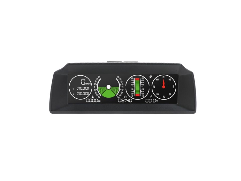 """Palubní DISPLEJ 5,2"""" LCD, GPS měřič rychlosti s vestavěným víceosým gyroskopem"""