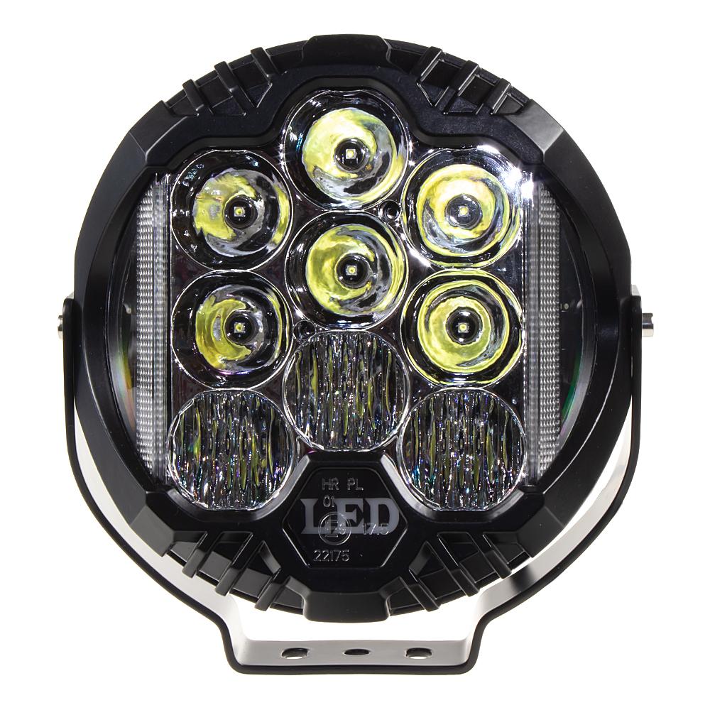 LED světlo kulaté, 70W, ø195mm, ECE R10/R112
