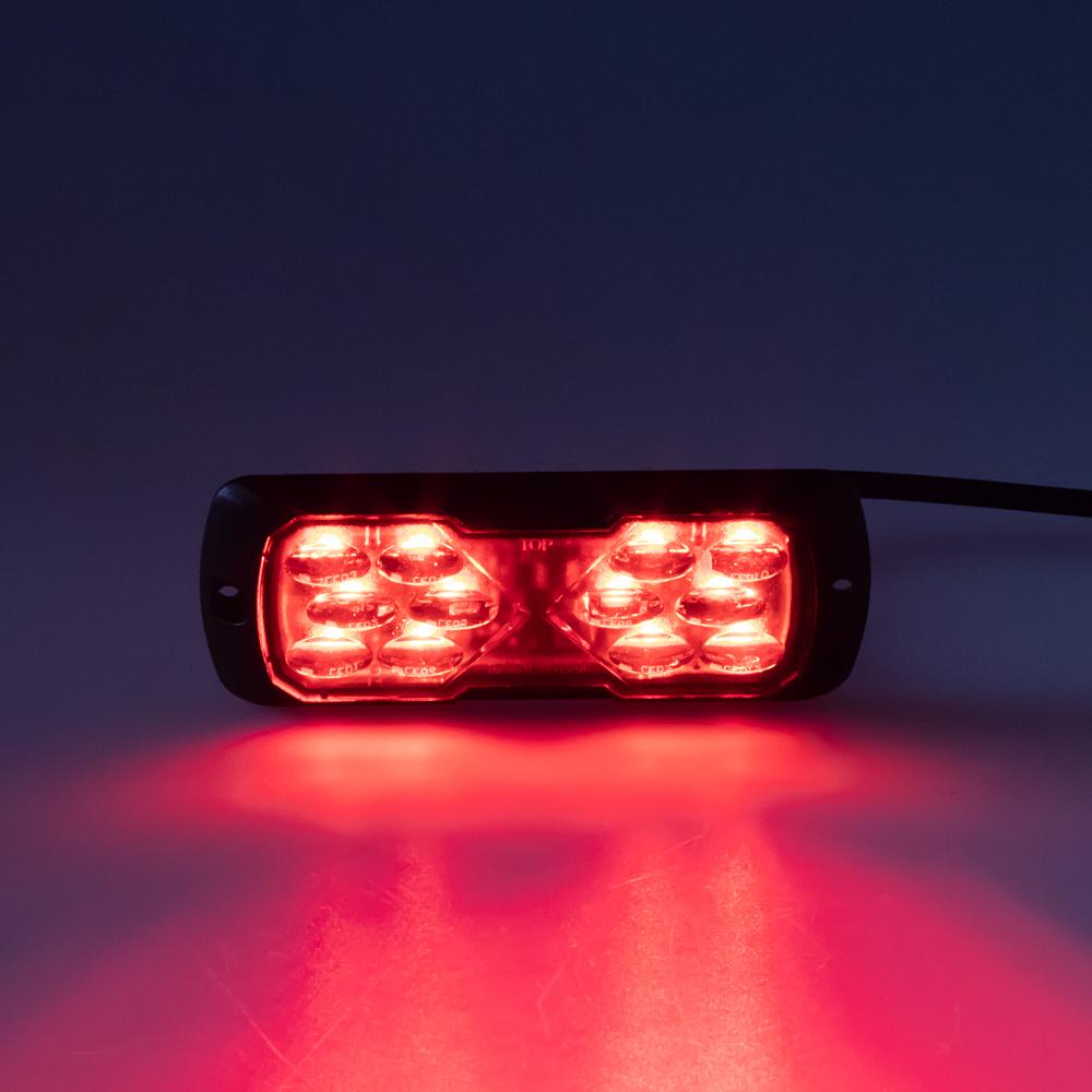 PROFI LED výstražné světlo 12-24V 11,5W červené ECE R65 114x44mm