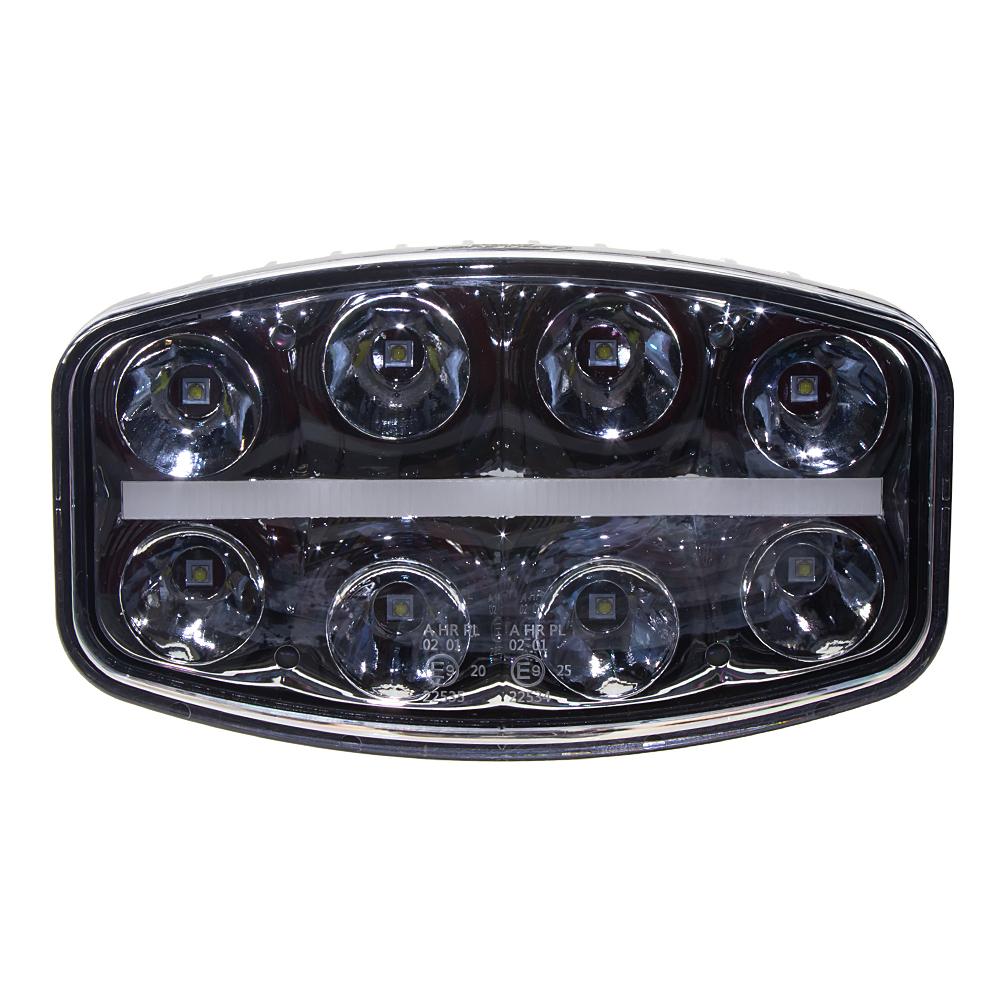 LED světlo s pozičním světlem oválné, 8x8W, 210x140mm, ECE R7/R10/R112