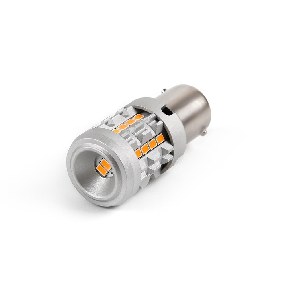 LED BA15S oranžová, 12V, CAN-BUS, 26LED/3020SMD