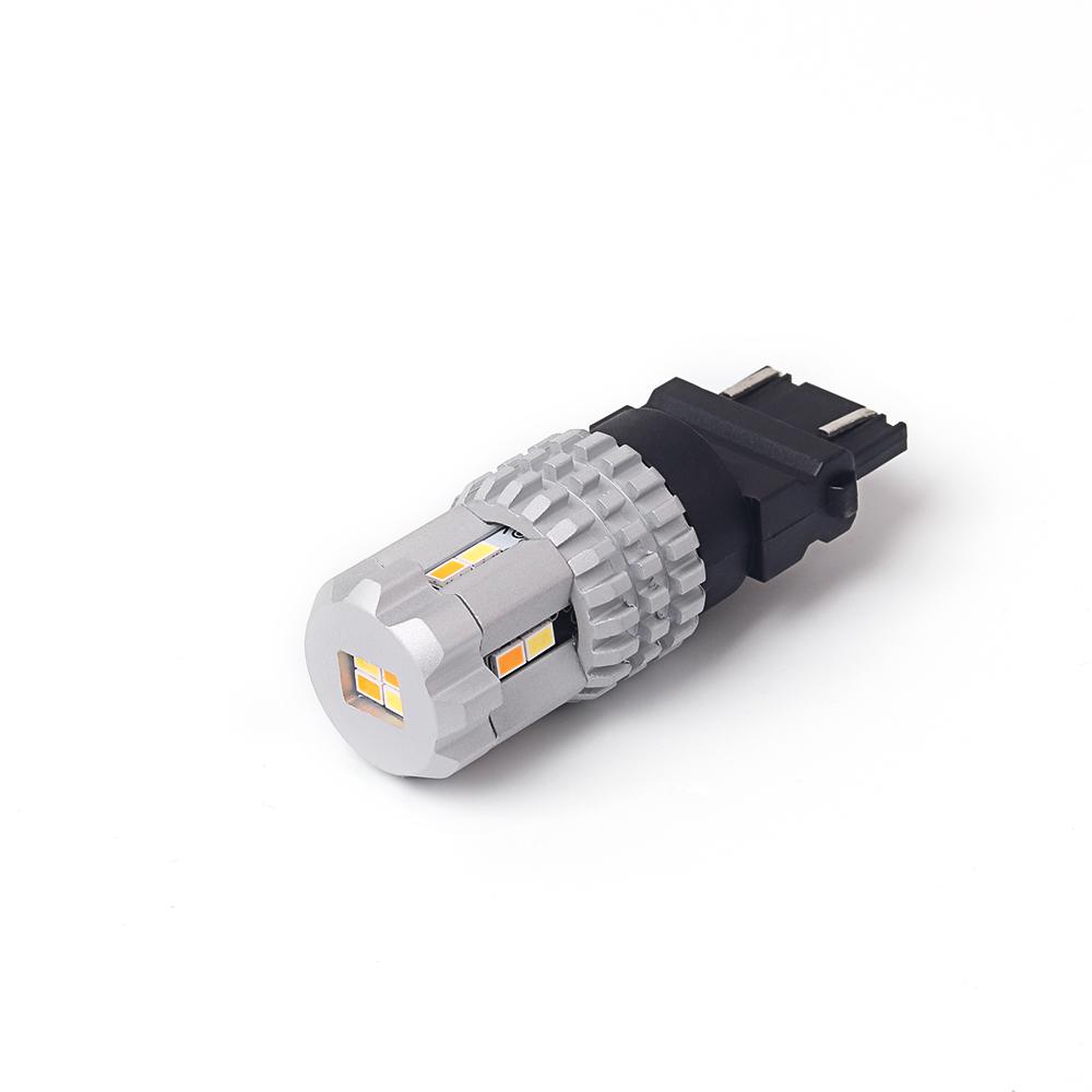 LED T20 (3157) bílá/oranžová, 12V, 12LED/3020SMD