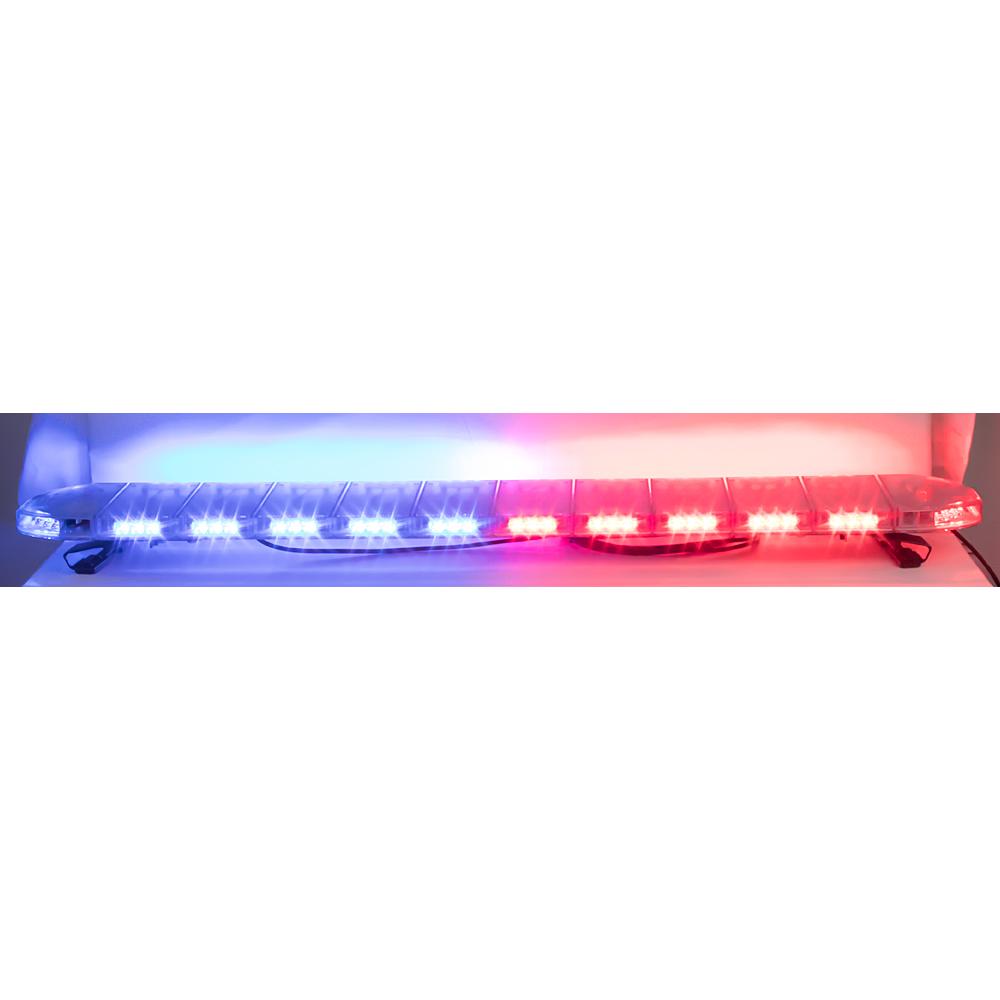 LED rampa 1442mm, modrá/červená, 12-24V, ECE R65