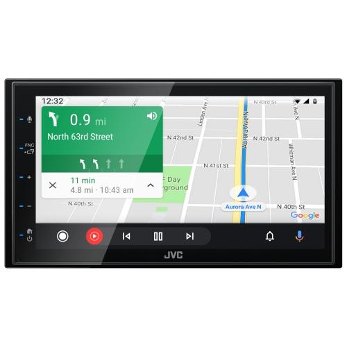 "JVC 2DIN autorádio/6,8"" displej/USB/AUX/Bluetooth/Apple CarPlay / Android Auto"
