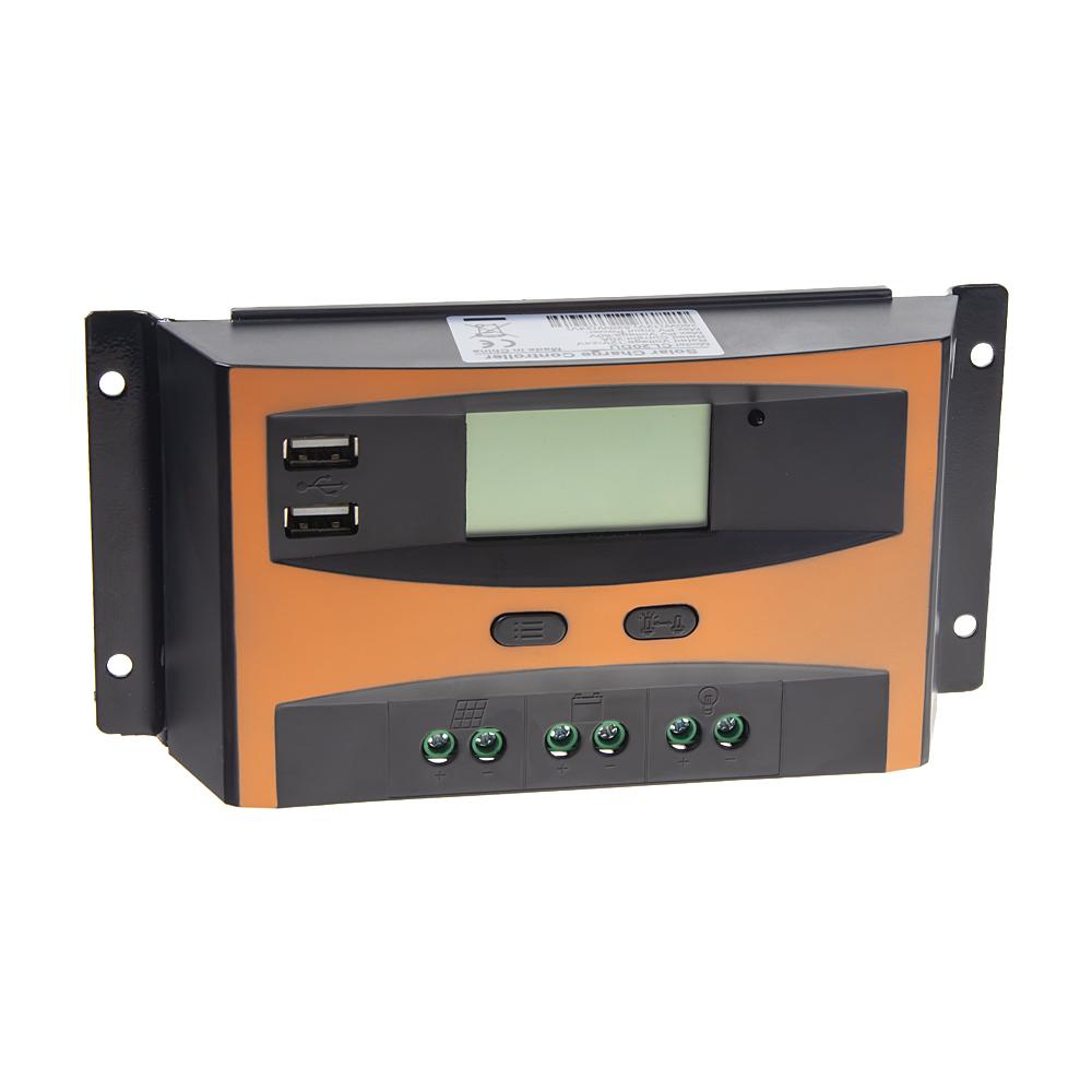 Solární regulátor nabíjení 12V/24V, 20A s LCD