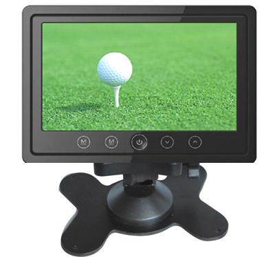 """LCD monitor 7"""" do opěrky s IR vysílačem černý"""