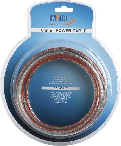 x Napájecí kabel IMPACT 20 mm2 transparentní, role 7m