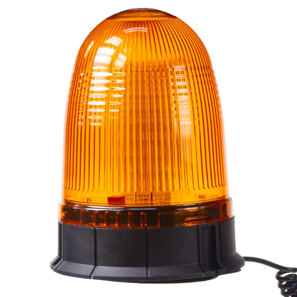 x LED maják, 12-24V, oranžový magnet, 80x SMD5050, ECE R10