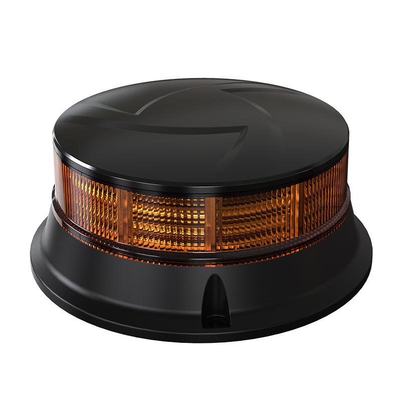 LED maják, 12-24V, 30x0,7W oranžový, pevná montáž, ECE R65 R10