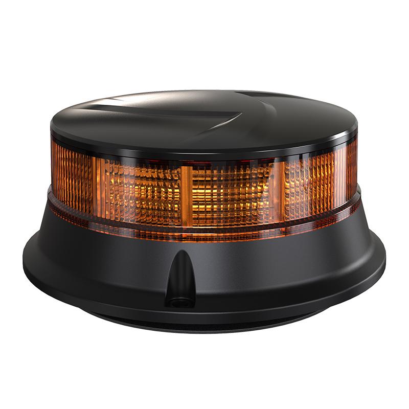 LED maják, 12-24V, 30x0,7W oranžový, magnet, ECE R65 R10