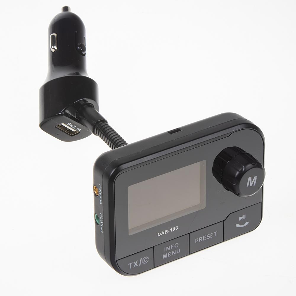 DAB přijímač / Bluetooth HF + přehrávač / micro SD  do CL zásuvky