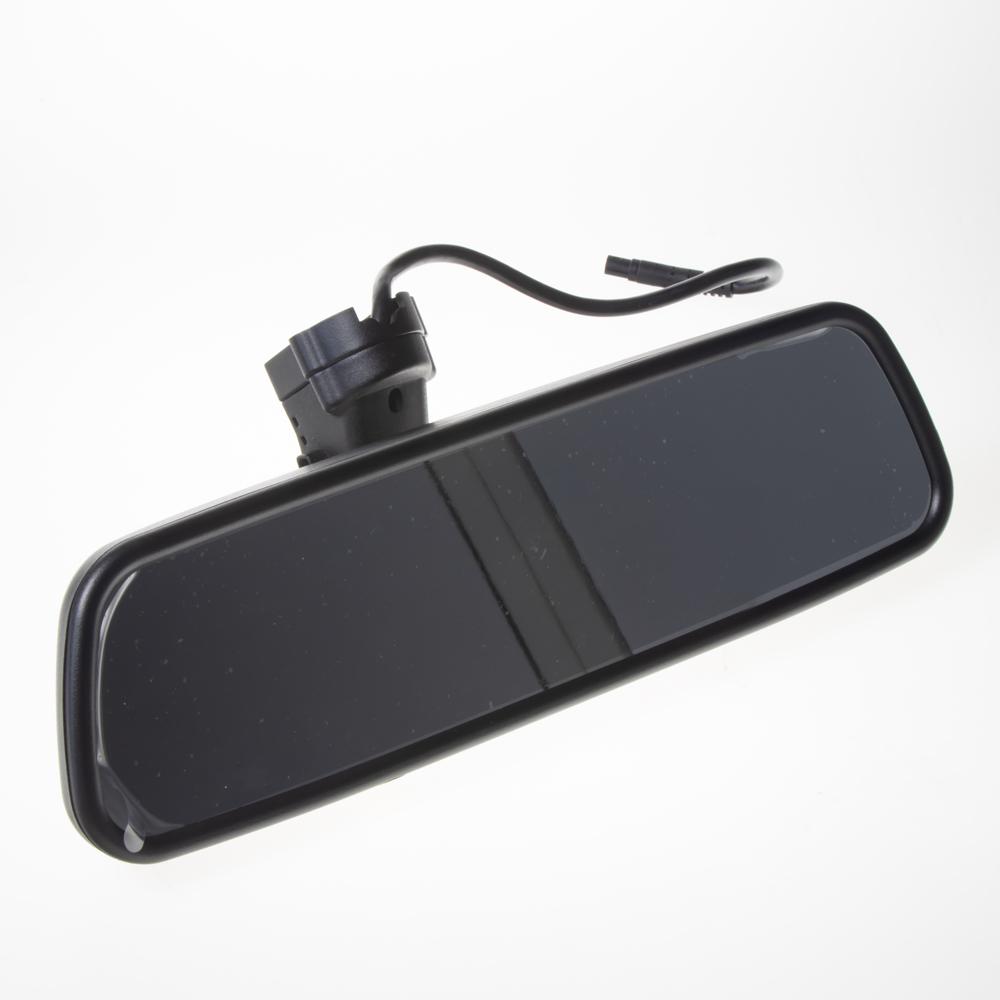"""LCD monitor 4,5"""" v zrcátku pro OEM montáž VW, Audi, Škoda... Bluetooth, 2xRCA"""