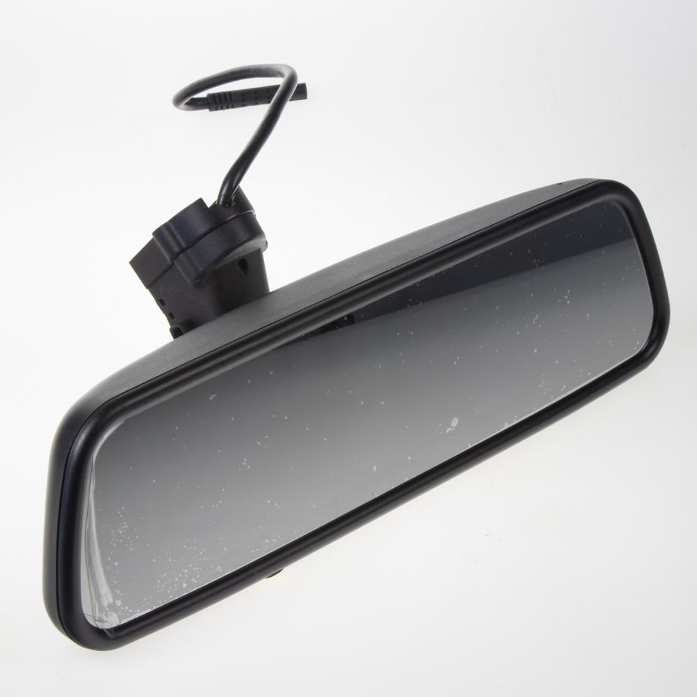 """LCD monitor 4,5"""" v zrcátku pro OEM montáž VW, Audi, Škoda... 2xRCA"""