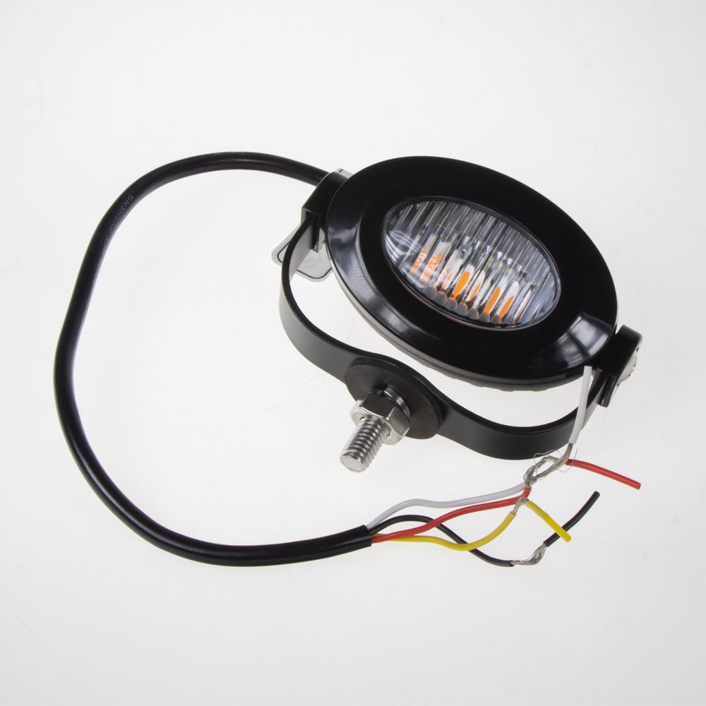 PROFI LED výstražné světlo 12-24V 3x3W oranžová 92x65mm