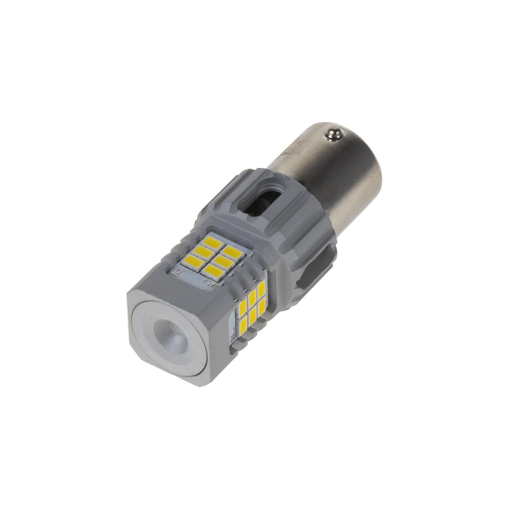 LED BA15s bílá, CAN-BUS, 12V, 24LED/3020SMD