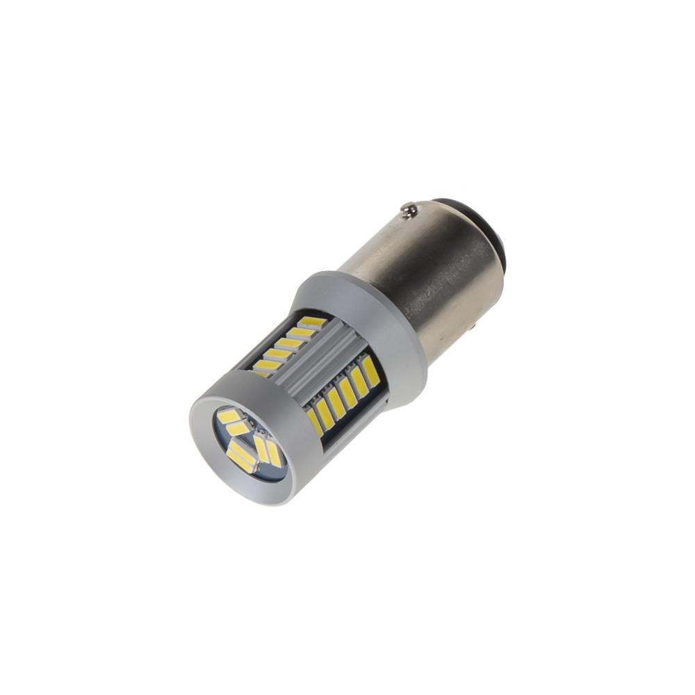 LED BA15d (jednovlákno) bílá, 12-24V, 30LED/4014SMD