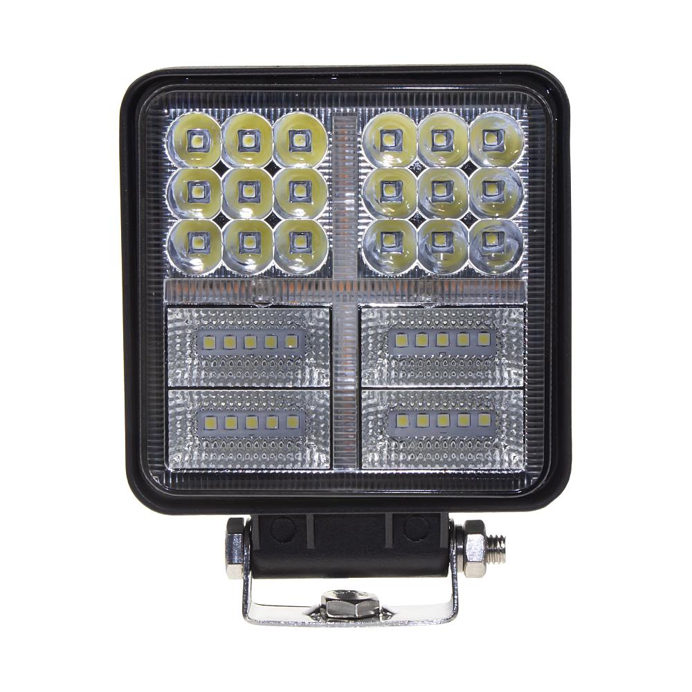 LED světlo hranaté, bílá + oranžová, 38x3W, ECE R10