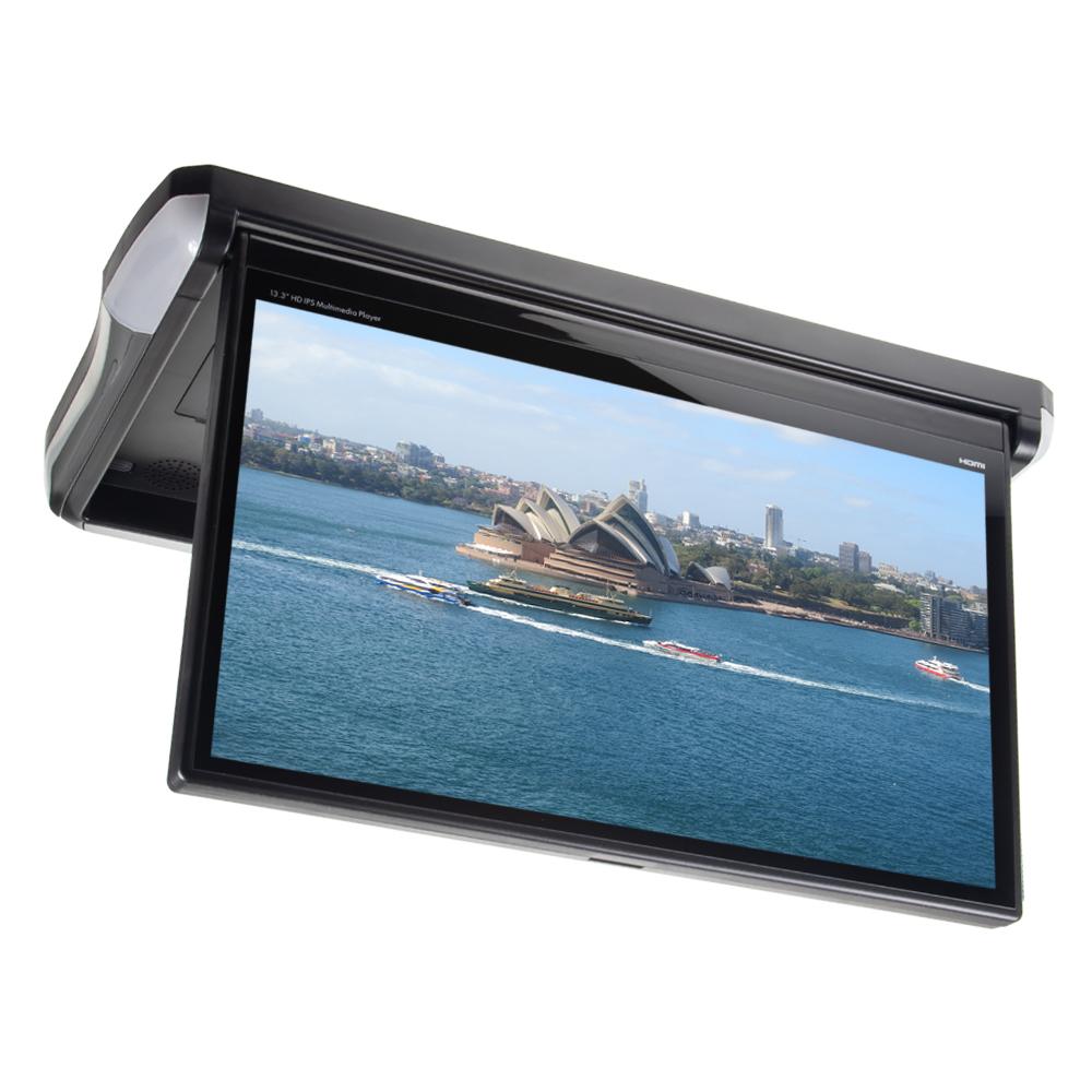"""Stropní LCD monitor 13,3"""" černý s OS. Android HDMI / USB, dálkové ovládání"""