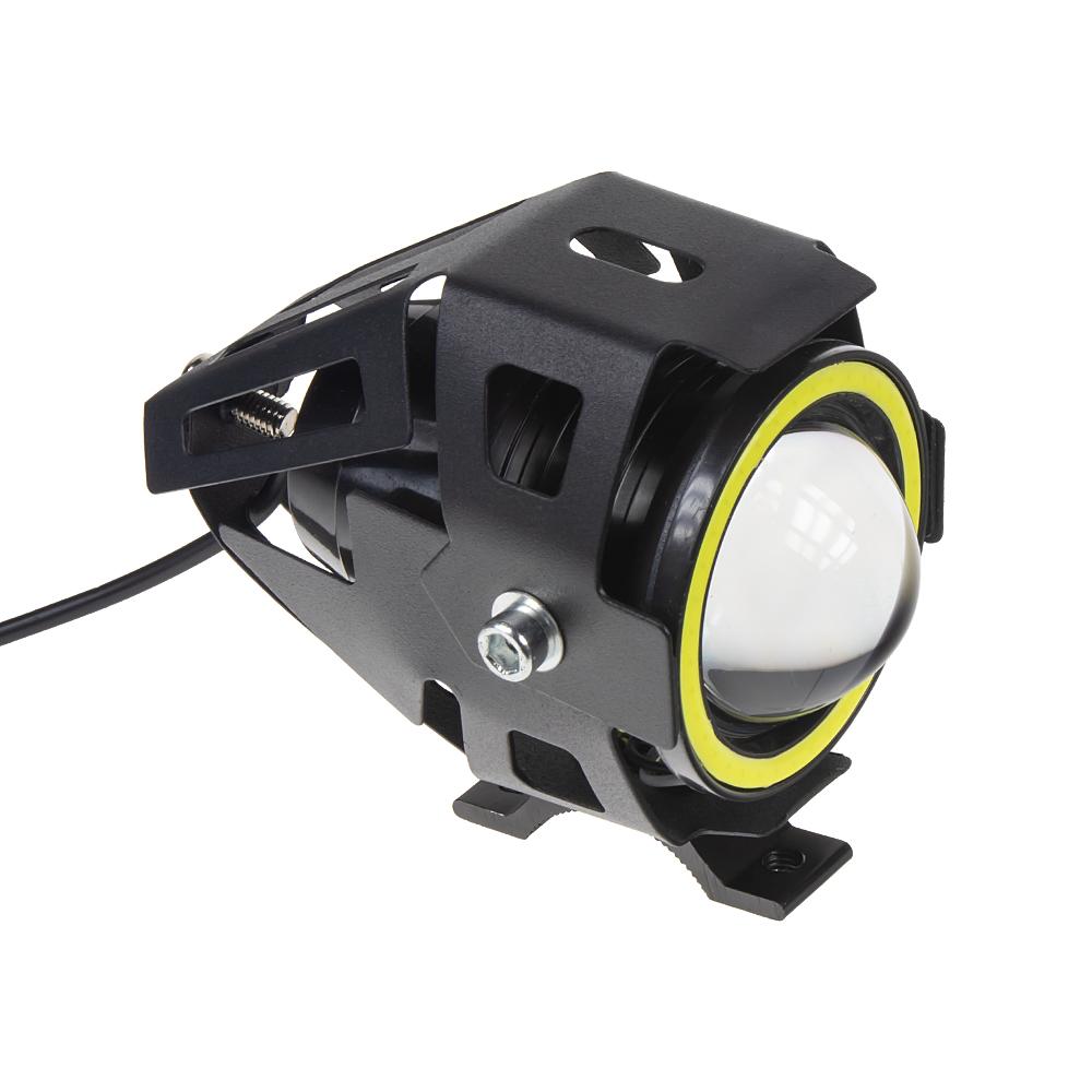 LED světlo s čočkou/denní svícení kulaté na motocykl, 1x 10W