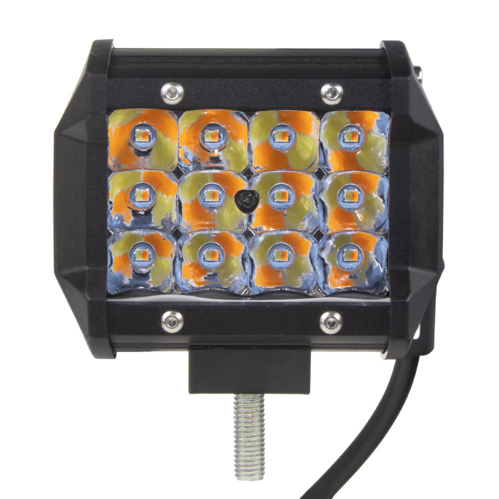 LED světlo hranaté, bílá + oranžová, 36W, 95x79x65mm