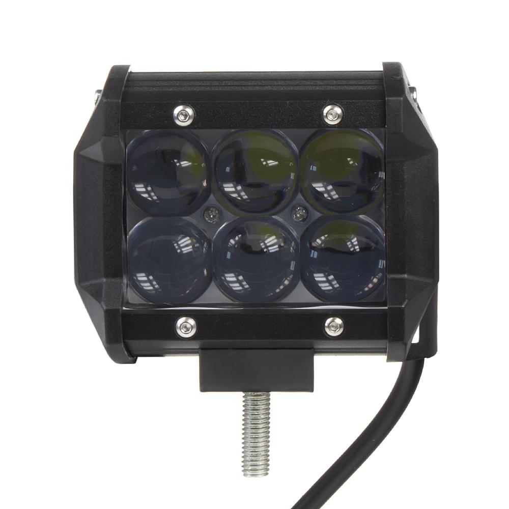 LED světlo obdélníkové, 6x3W, 95x80x65mm