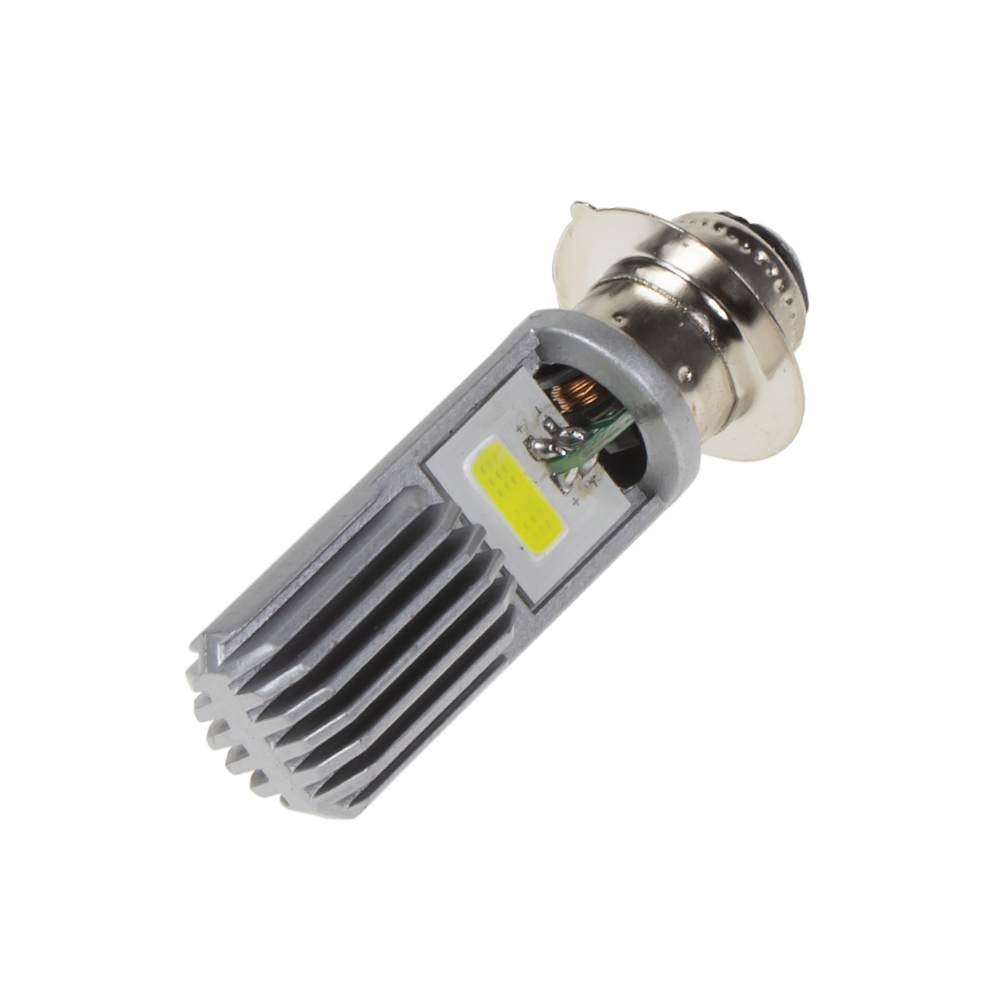 COB LED H6M / P15D bílá, 12 V, motocyklová