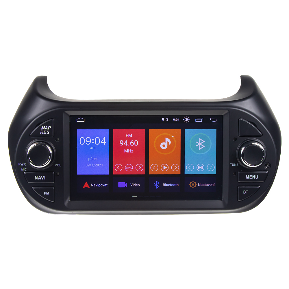 """Autorádio pro FIAT/CITROEN/PEUGEOT s 7"""" LCD, Android 10.0, WI-FI, GPS, Mi-link, Bluetooth, 3x USB"""