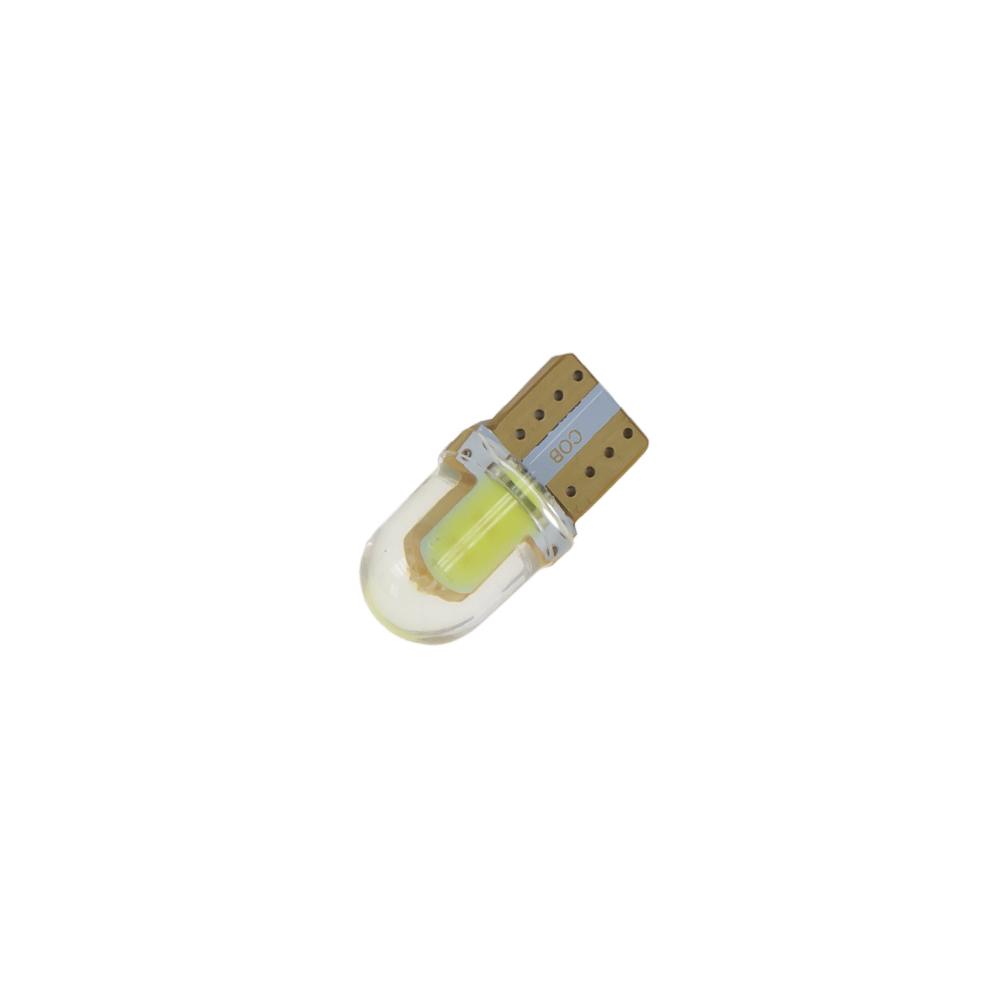 COB LED T10 bílá, 12V, silikon