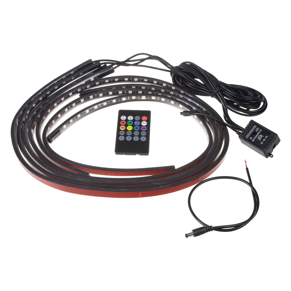 LED podsvětlení vnitřní/vnější RGB 12V, IR , 4 pásky