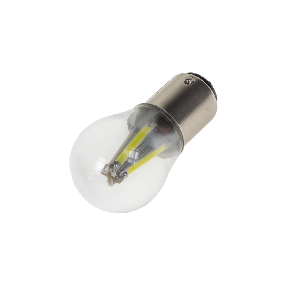 LED BAY15d bílá, 12-24V, 4x COB LED