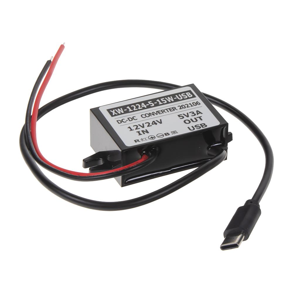 Měnič napětí 12-24/5V, 3A USB-C