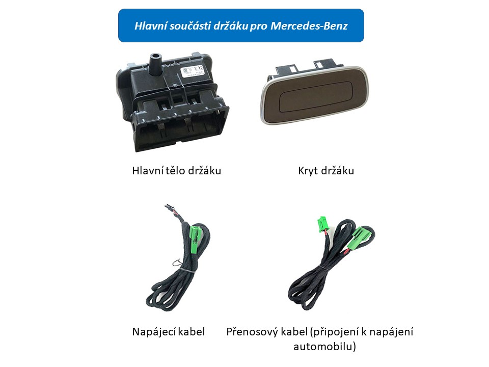 Držák pro instalaci do sedadel vozu Mercedes Benz, pro monitor ds-x116MC v černé barvě