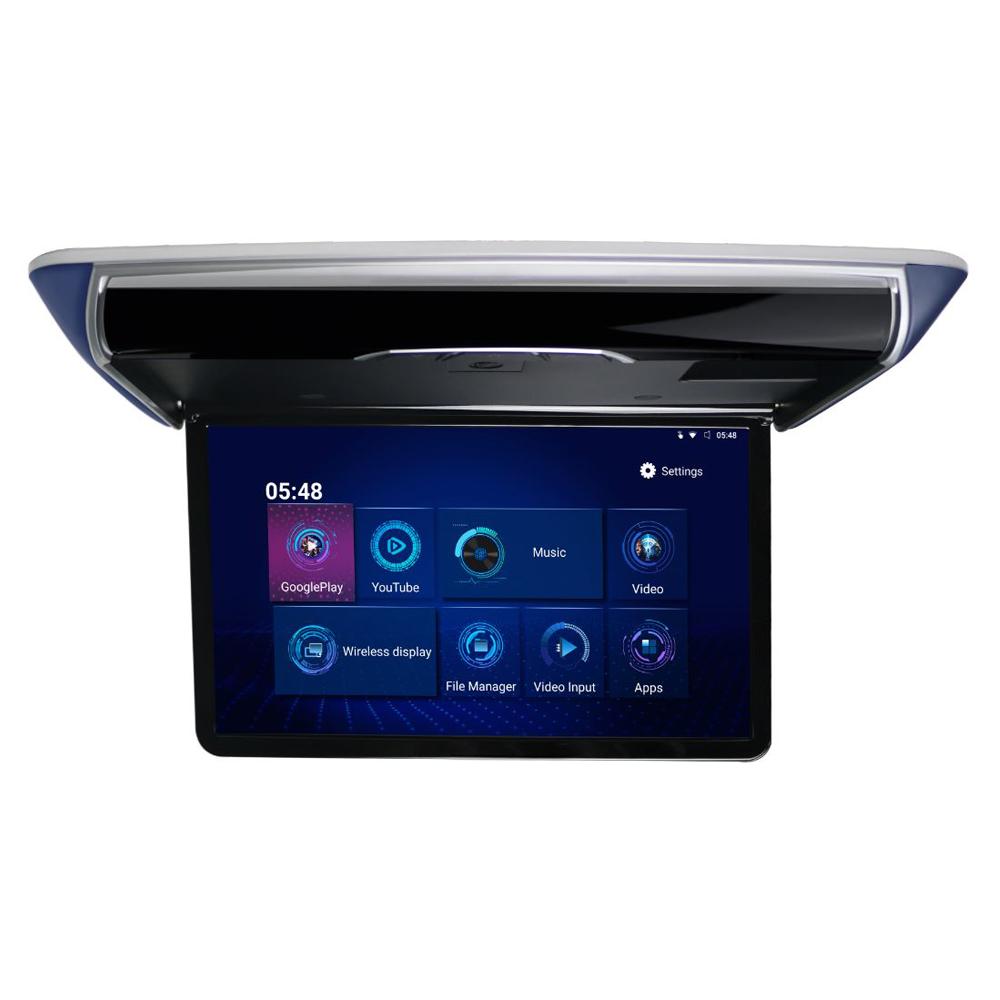"""Stropní LCD motorický monitor 17,3""""  s OS. Android HDMI / USB, dálkové ovládání se snímačem pohybu"""