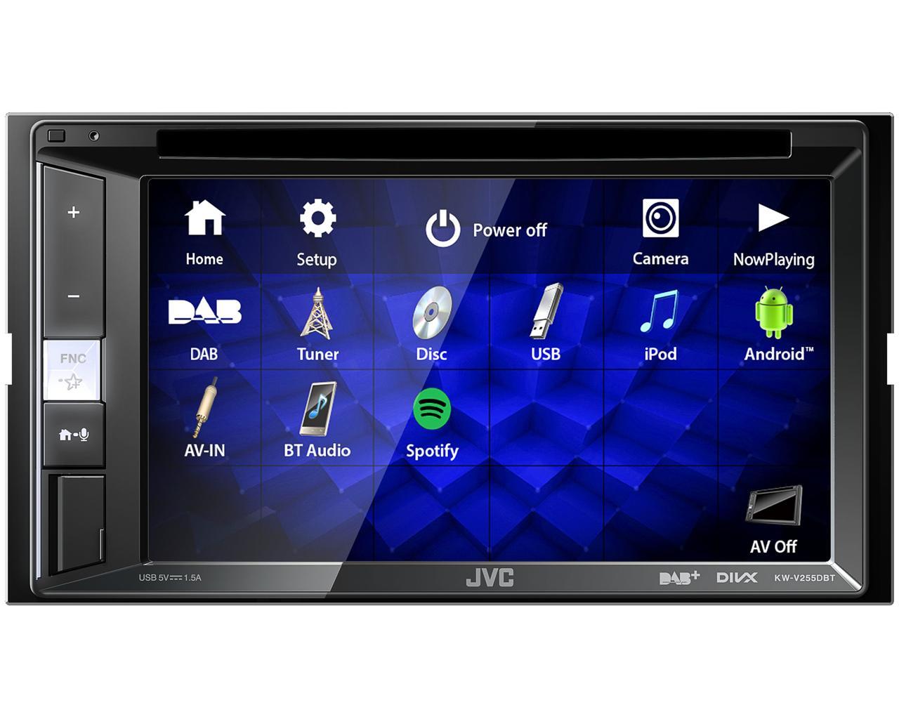 """JVC 2DIN autorádio FM / DAB+ / DMB / CD / DVD / USB / AUX, Bluetooth s 6,8"""" displej"""