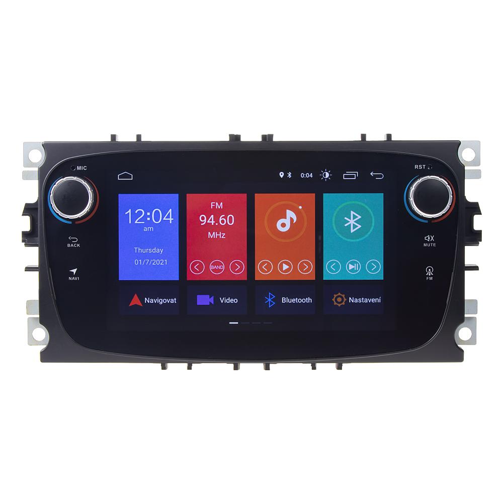 "Autorádio pro Ford 2008-2012 s 7"" LCD, Android 10.0, WI-FI, GPS, Mirror link, Bluetooth, 2x USB"