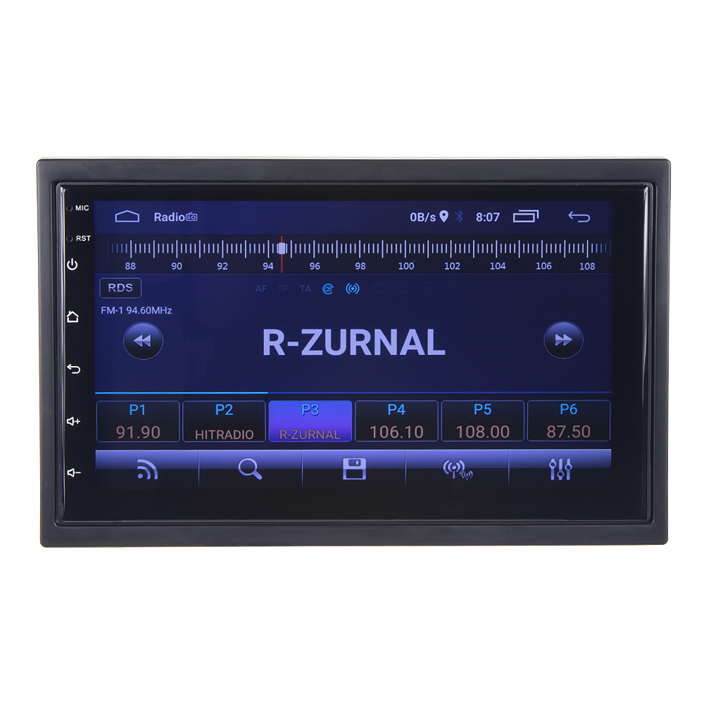 "2DIN autorádio s 7"" LCD, Android 10, WI-FI, GPS, Mirror link, Bluetooth, 2x USB"