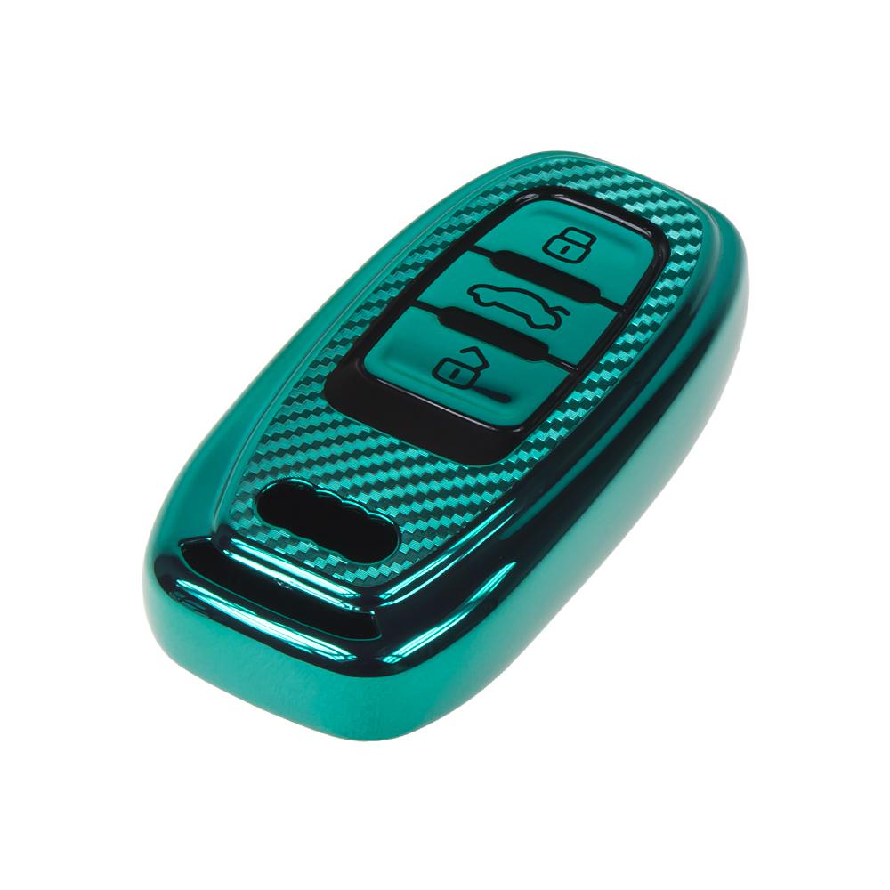 TPU obal pro klíč Audi, carbon zelený