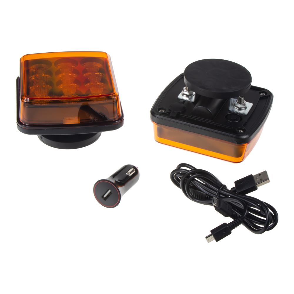 LED výstražné světlo, oranžové, ECE R65, set 2ks